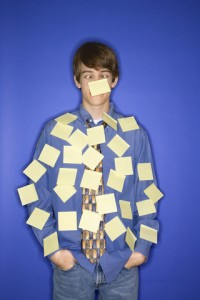 boy with post-its